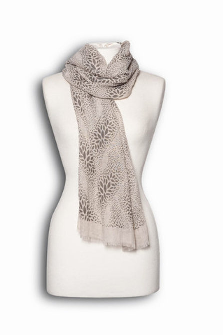 Natural and Grey scarf