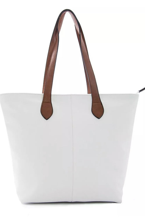 White twin handle shopper