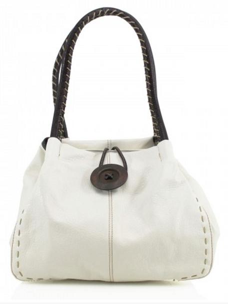 White Button Shoulder Bag