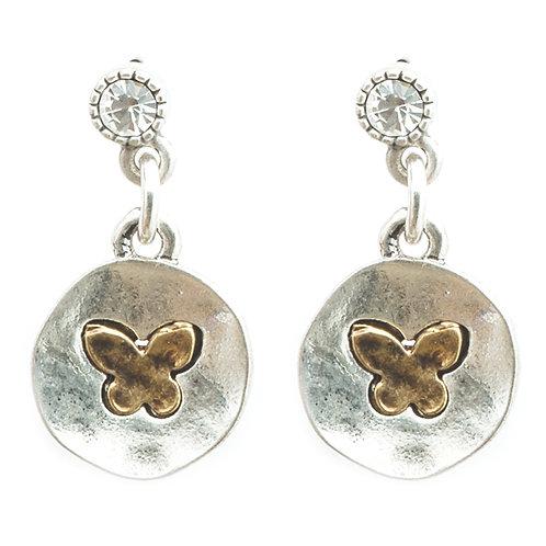 Butterfly stud drop Earrings