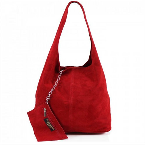 Red Italian Suede bag