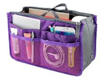 Purple Handbag Organiser