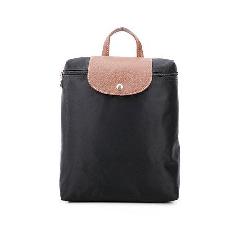 Black Backpack folding