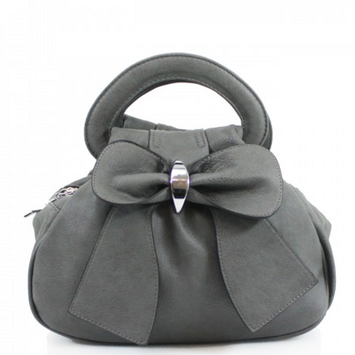 Grey Bow Bag with multiple pockets
