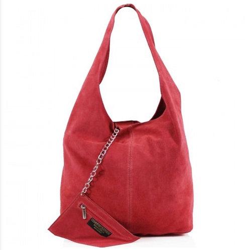 Coral Italian Suede bag