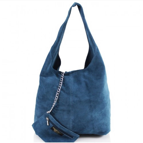 Blue Italian Suede bag