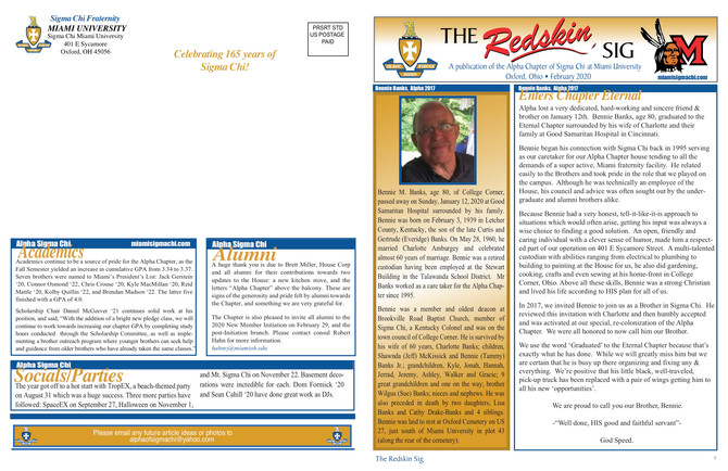 February Redskin Sig Issued