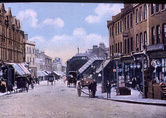 Edwardian George Lane shops towards Stn