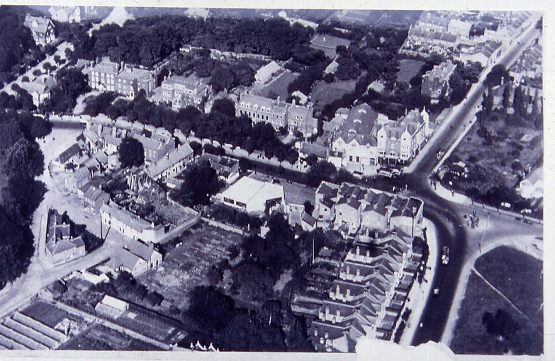 Aerial View of The George c.1930.jpg