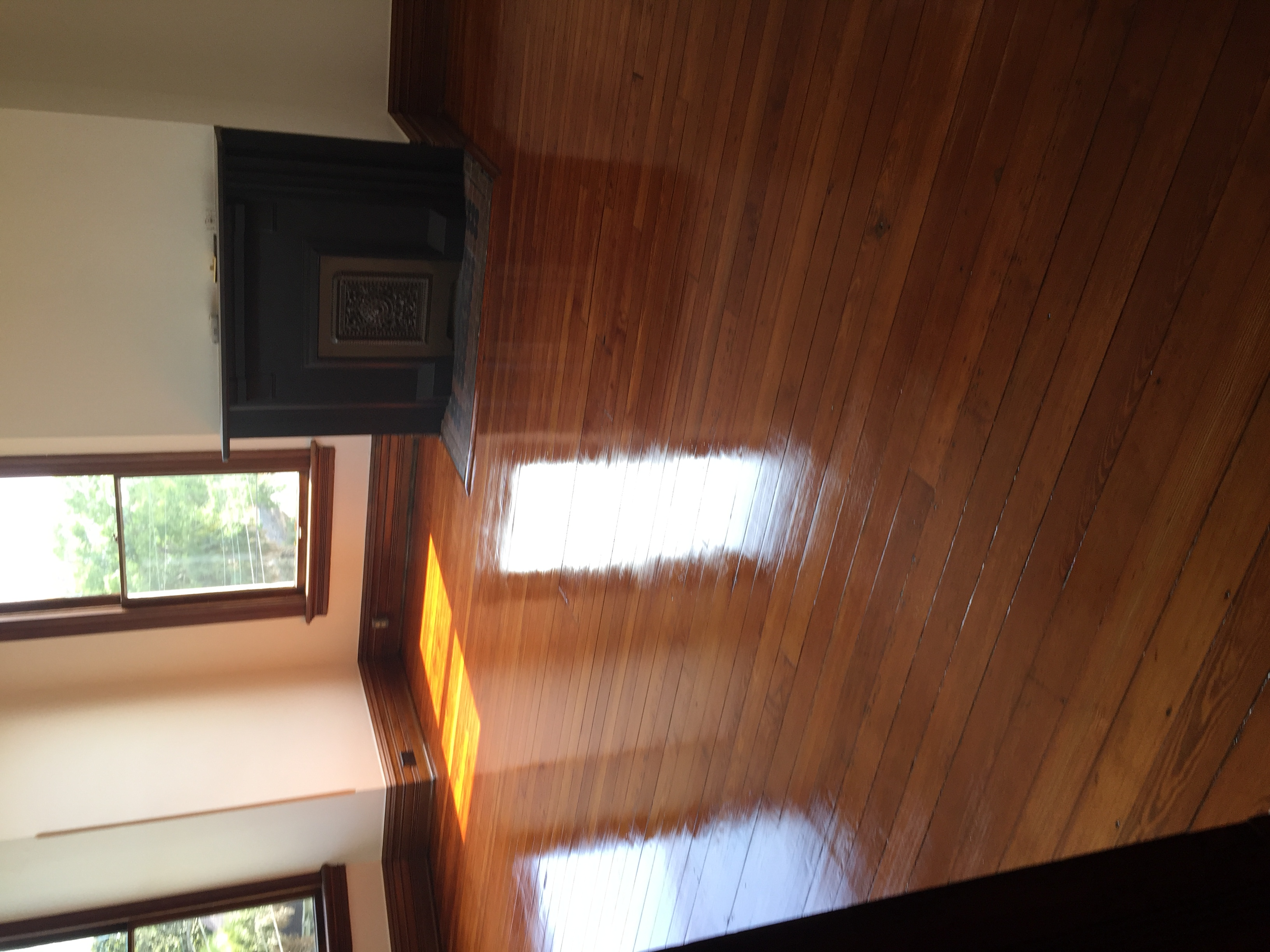 High Shine Wood Floor Refinished