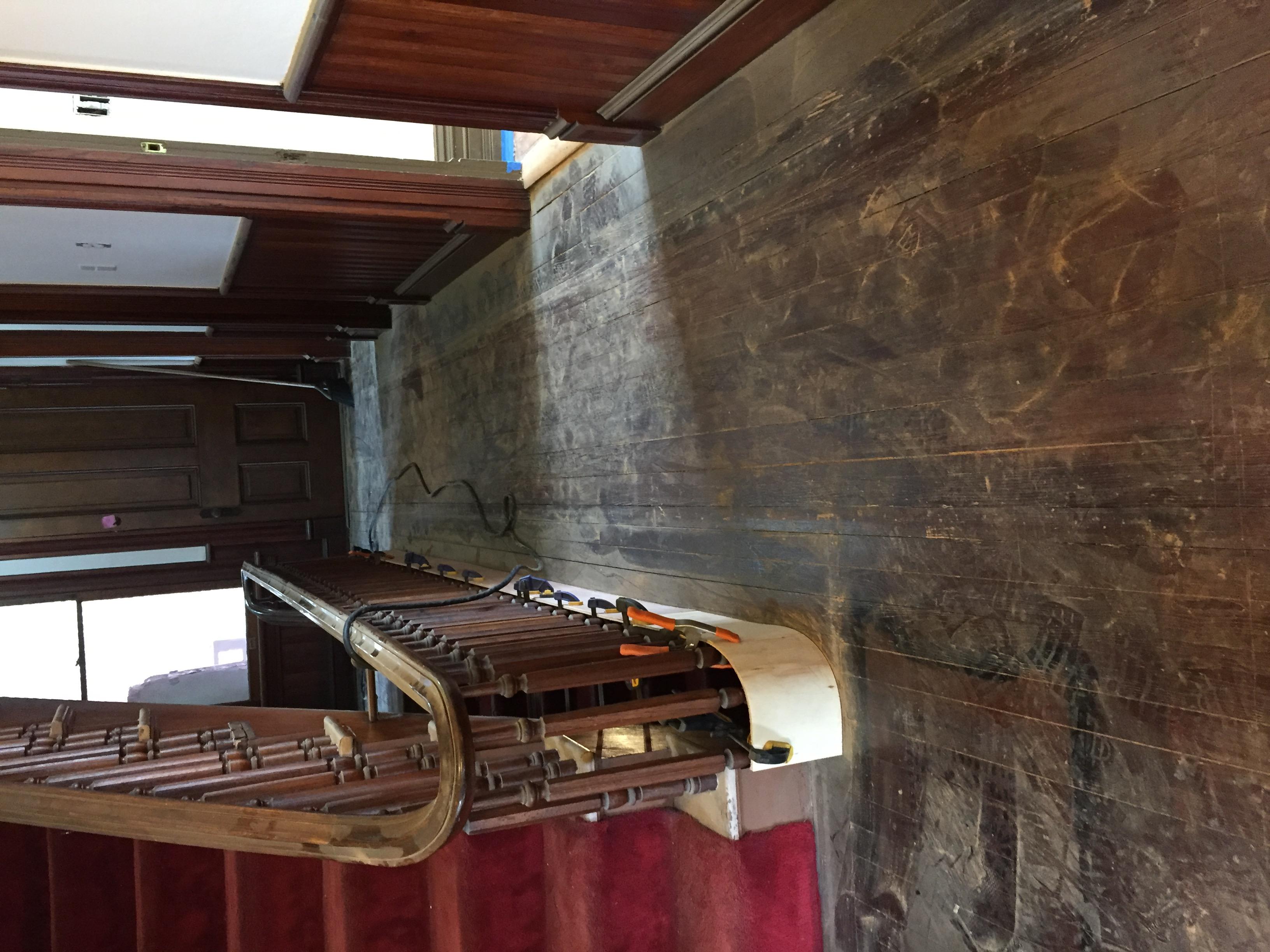 Modern Dark Wood Floor Refinished
