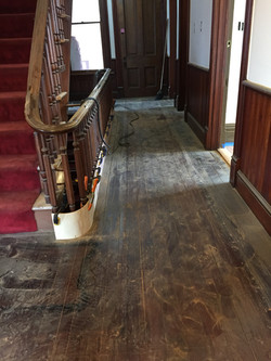 Modern Dark Wood Floor Refinished