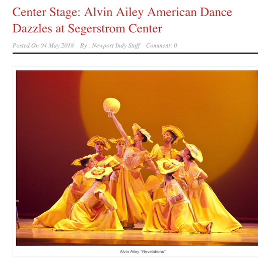 REVIEW: ALVIN AILEY'S REVELATIONS