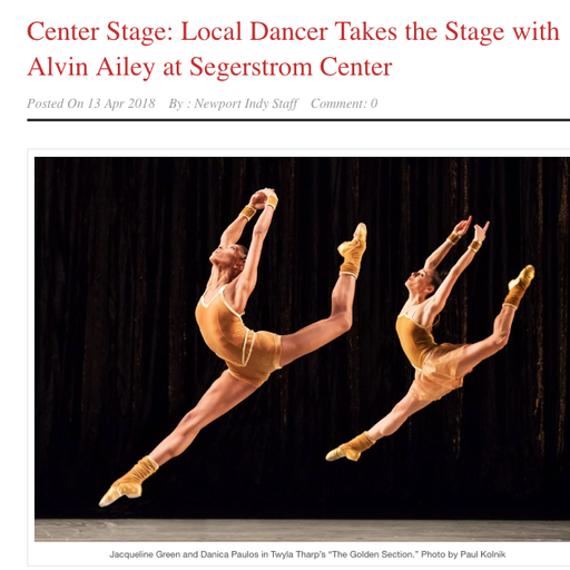 INTERVIEW WITH AILEY DANCER, DANICA PAULOS