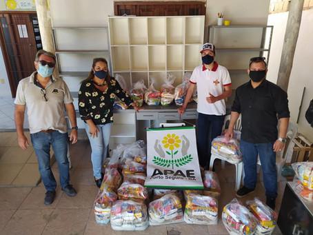 Apae recebe doações dos Demoleys. Somos muito gratas pela iniciativa.