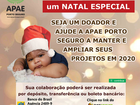 APAE Porto Seguro lança campanha natalina