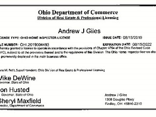 Home Inspector License