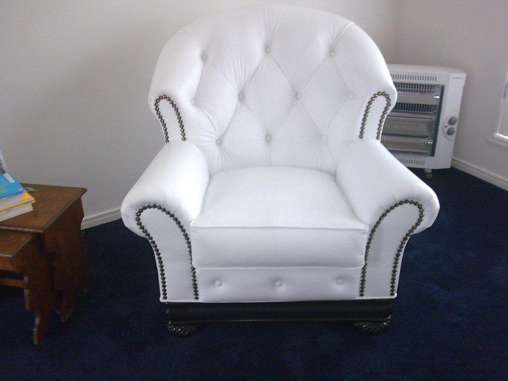 After: Modernised in white leather