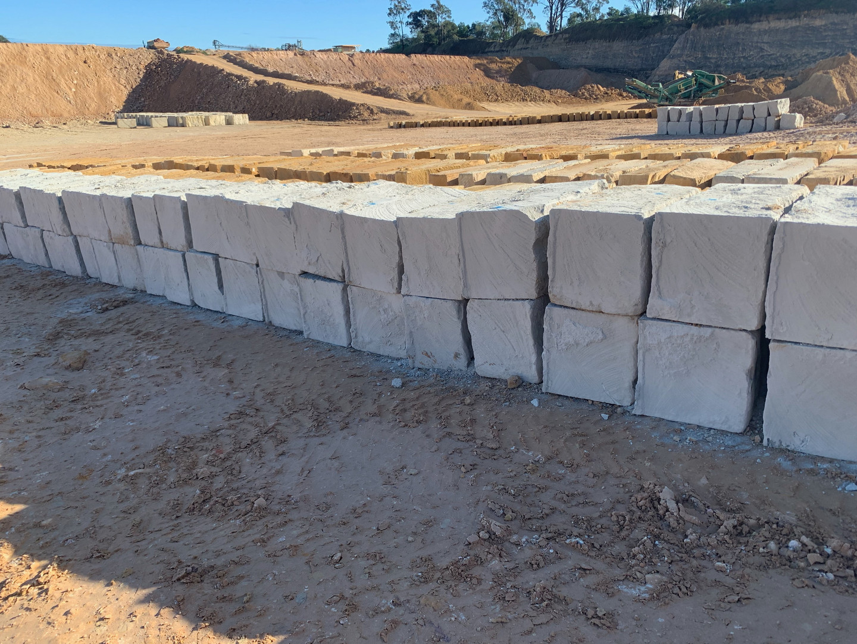 A Grade 1m Sandstone blocks