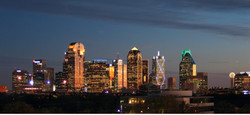 Dallas skyline at sunset cropped