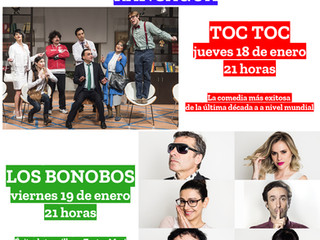 TOC TOC y Los Bonobos formarán parte del 22º Festival de Teatro al Aire Libre de Rancagua