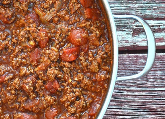 Homemade Meat Sauce  (3/4 servings)