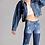 Thumbnail: Distressed Color Block Jeans