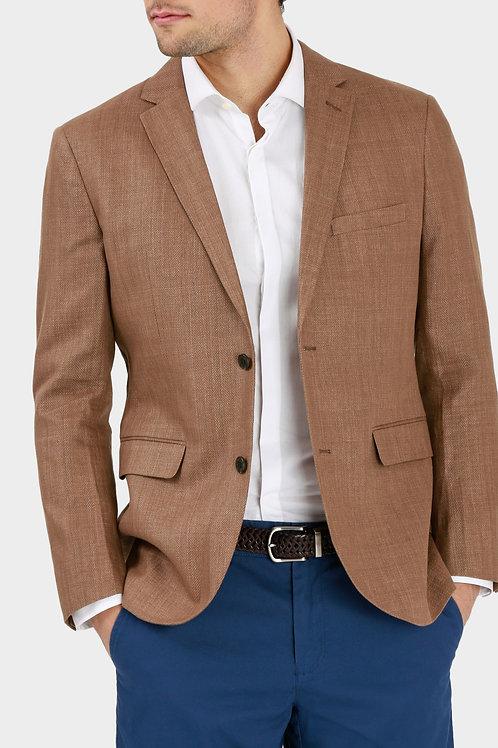 Herringbone Linen/Cotton Blend Blazer