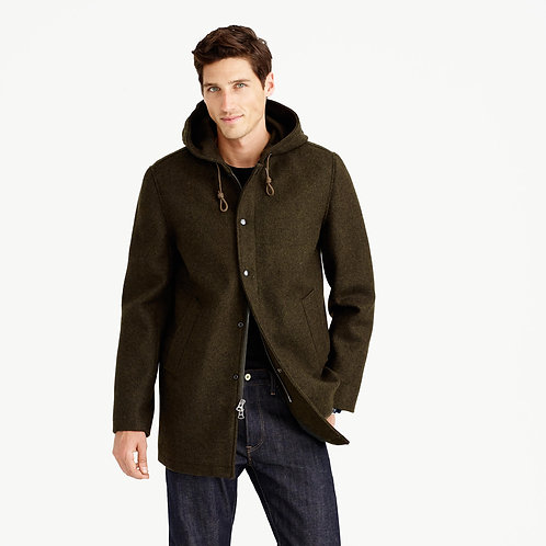 Hooded Coaches Jacket Wool