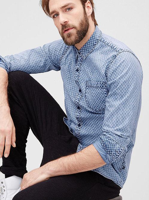 Lightweight Denim Printed Shirt