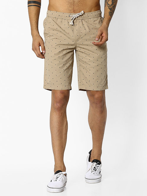 Geometric Print Regular Fit Shorts