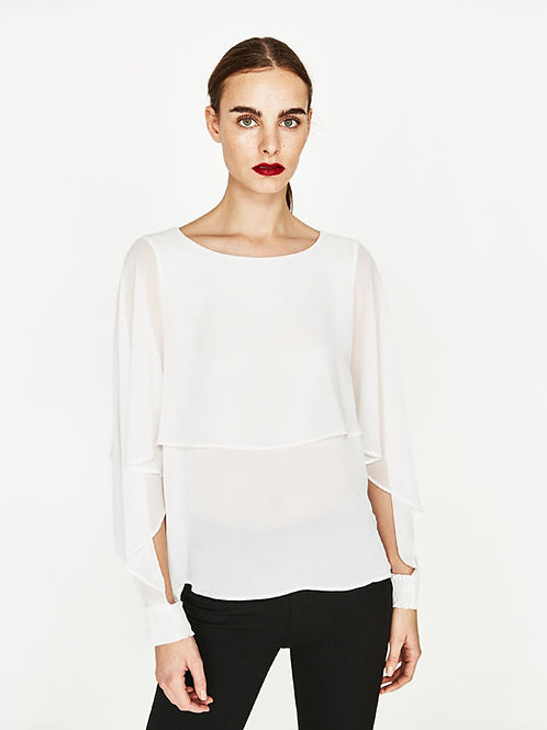 Double Layer Flowing Blouse
