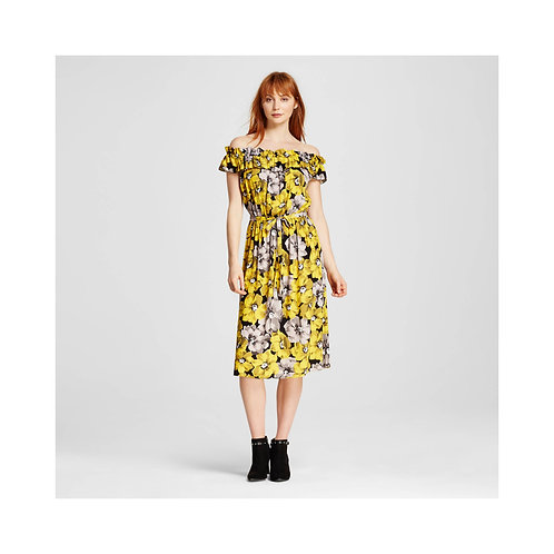 Women's Bardot Style Midi Dress