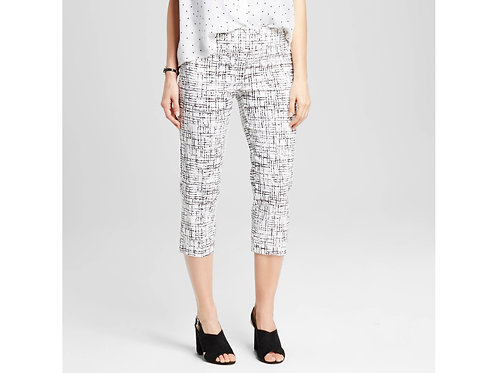 Printed Pull-on Cropped Pant