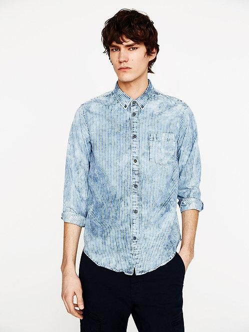 Indigo Acid Stripe Shirt