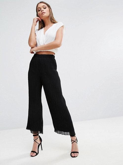 Wide Leg Plisse Pants
