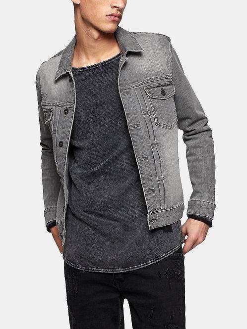Pleat Front Denim Jacket