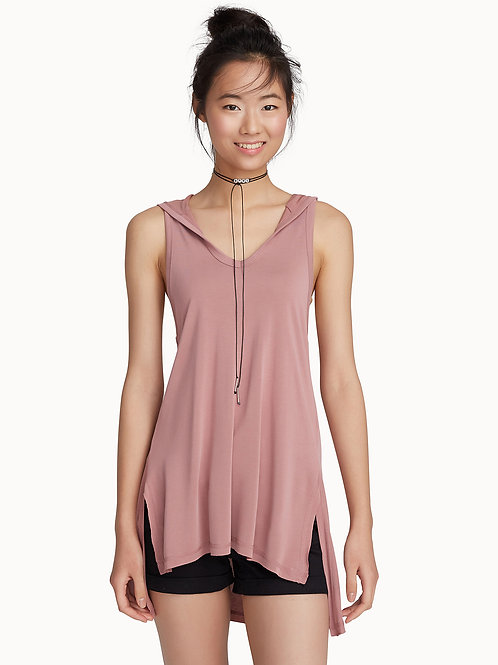 Modal Touch Hooded Tank Top