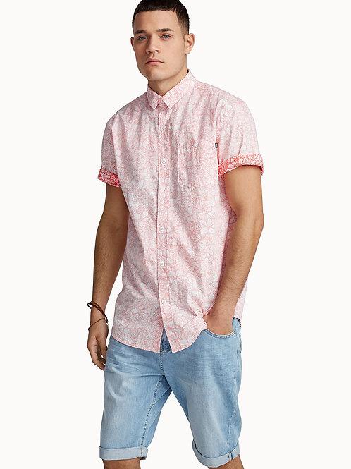 Reverse Print Floral Shirt