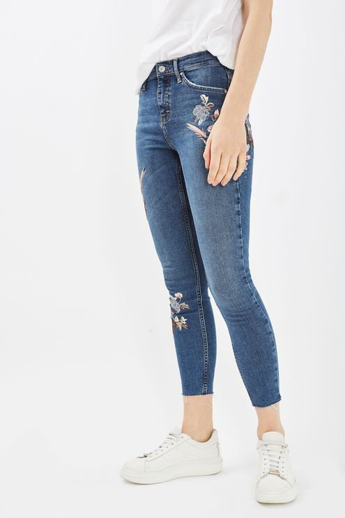 Floral Embroidered Jean