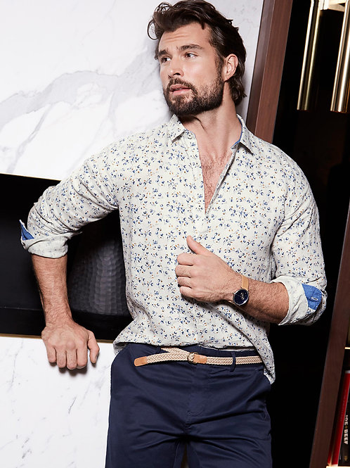 Floral Print Lined Shirt