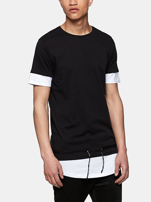 Long Fit Draw-cord Tee