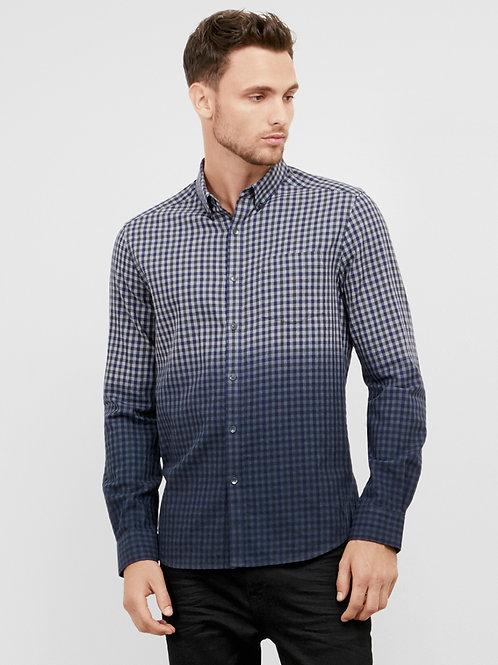 Dip Dye Gingham Shirt