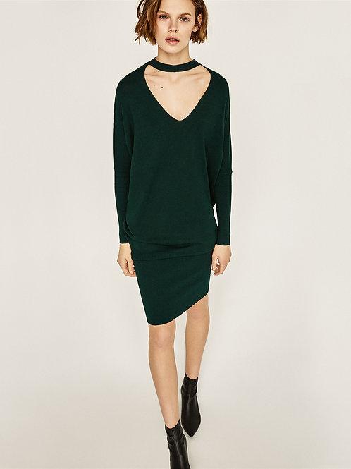 Choker Sweater Dress
