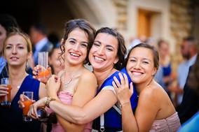 photo de vin d'honneur de mariage à la commanderie de lachal à epinouze