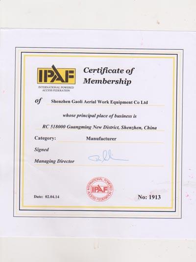 IPAF Membership