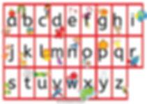 Alfabet prentkaart met alfabetrympie
