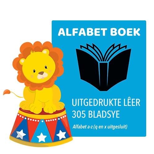 ALFABET BOEK -Uitgedrukte Lêer (305 Bladsye)