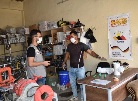 Success Story: Yazda & ASB set up a plumbing shop for a man who affected by the 2014 Genocide