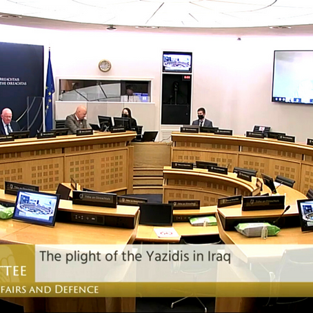 Yazda is briefing the Irish Parliament on Yazidi Situation